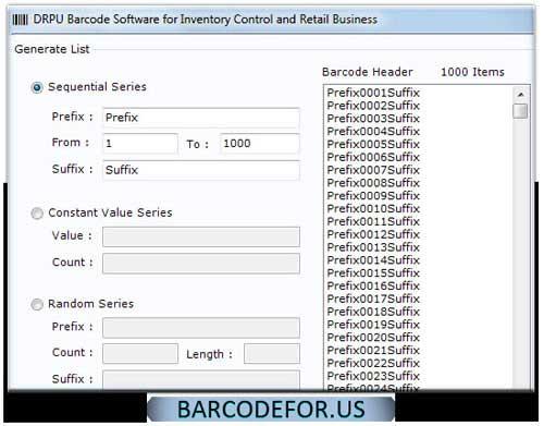 Retail Barcodes Creator